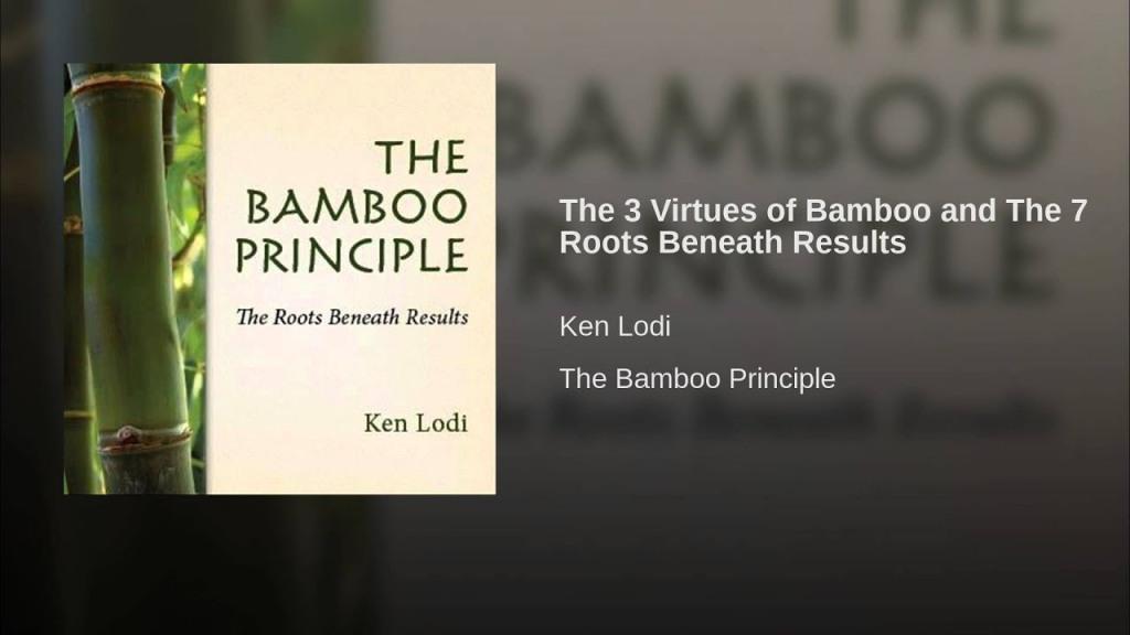 Book The Bamboo Principle